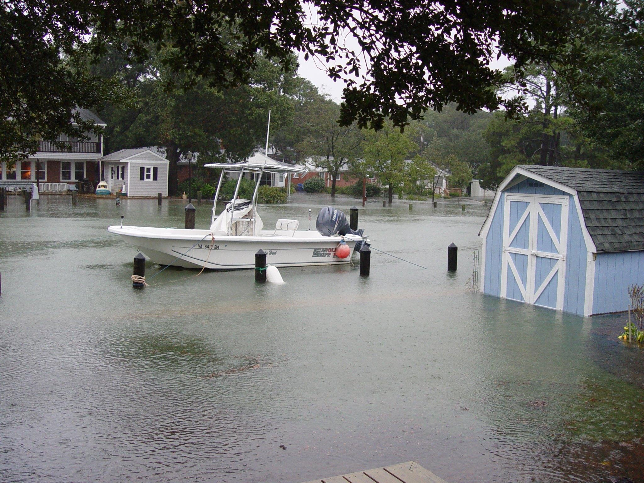 Flooding in Lynnhaven Colony Virginia Beach Hurricane Sandy