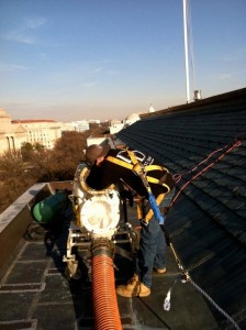 Repairing and lining conduit at the smithsonian