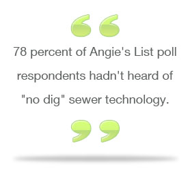Trenchless pipe repair on angies list