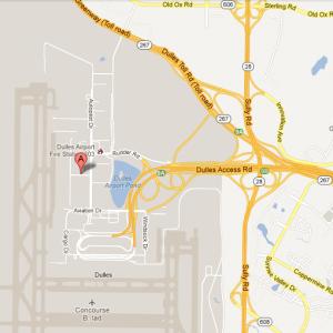 Dulles Airport in Sterling, VA