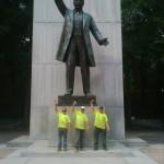 Fountain Water Sculpture Pipe Line Repair at the Teddy Roosevelt Memorial