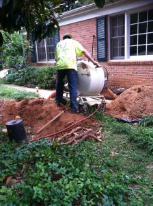 Residential Sewer Lining Job in Charlottesville, VA